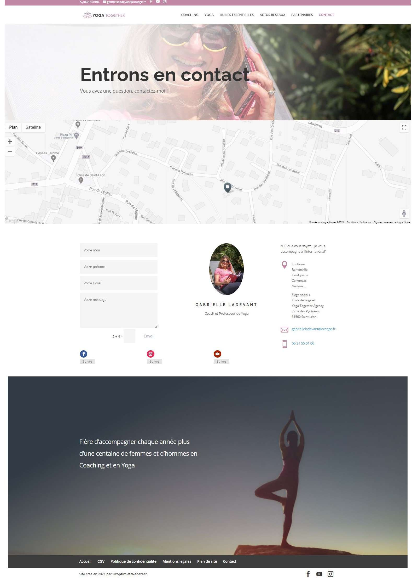 nouvelle page contact